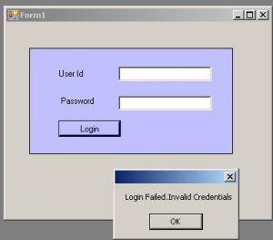User Control In C# Winforms-Login-Usercontrol