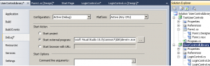 Debug C# Winforms User controls at Design Time